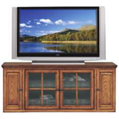 "Burnished Oak 62"" Wide Television Console"