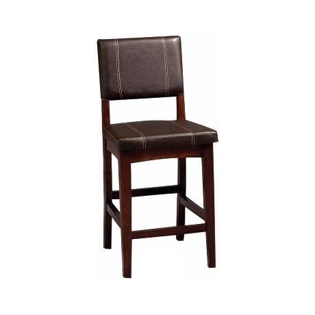 "Linon Milano Dark Walnut 24"" Counter Stool"