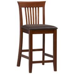 "Linon Triena Collection Craftsman 24"" Counter Stool"