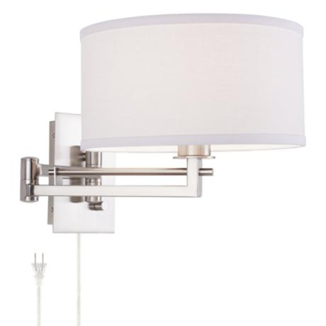 Possini Euro Aluno Plug-In Style Swing Arm Wall Light