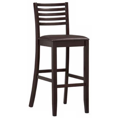 "Linon Triena Collection Ladder 30"" High Bar Stool"