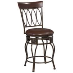 "Linon Four Oval Back 30"" High Swivel Bar Stool"