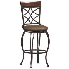 "Linon Curves 30"" High Swivel Bar Stool"