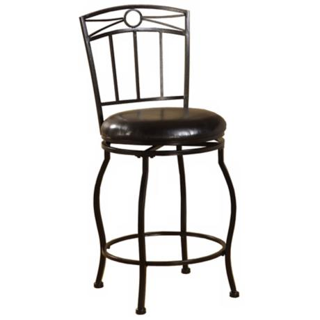 "Linon Circle Top 24"" High Swivel Counter Bar Stool"