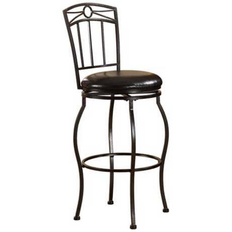 "Linon Circle Top 30"" High Swivel Bar Stool"