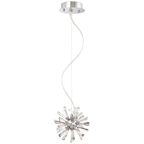 Possini Euro Design Crystal Burst Mini Pendant Light