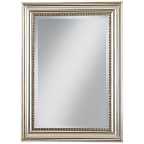 "Uttermost Stuart Silver Leaf 36 3/4"" High Wall Mirror"