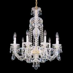 "Schonbek Sterling Collection 27"" Wide Crystal Chandelier"