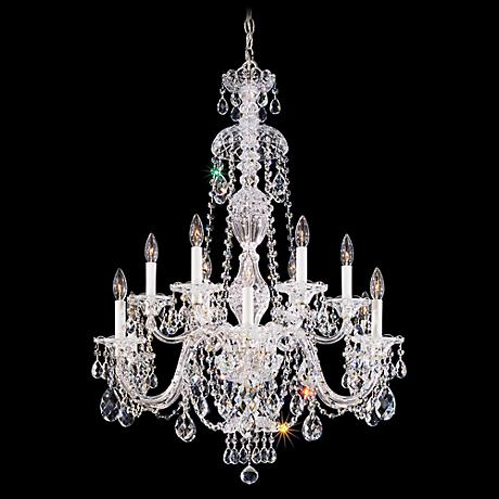 "Schonbek Sterling Collection 29"" Wide Crystal Chandelier"