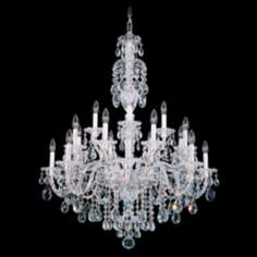 "Schonbek Sterling Collection 34"" Wide Crystal Chandelier"