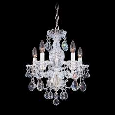 "Schonbek Sterling Collection 16"" Wide Crystal Chandelier"