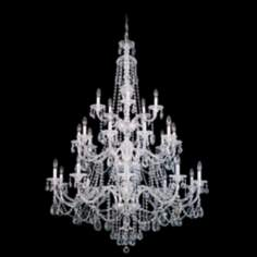 "Schonbek Sterling Collection 45"" Wide Crystal Chandelier"