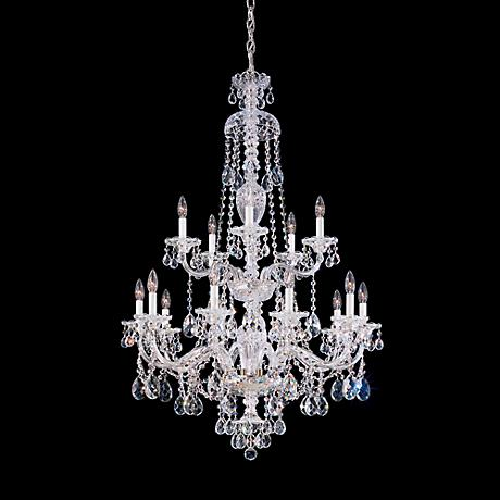 "Schonbek Sterling Collection 32"" Wide Crystal Chandelier"