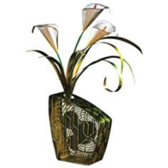 Deco Breeze Calla Lily Figurine Fan