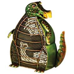 Alligator Mottled Green Figurine Fan