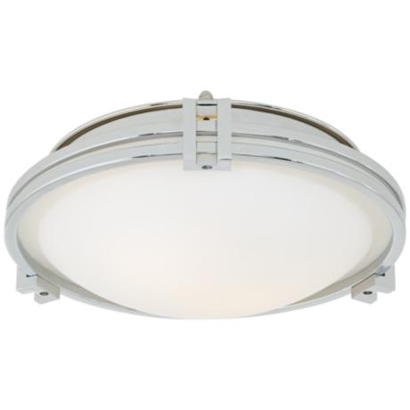 "Possini Chrome 12 3/4"" Flush Mount Ceiling Light"