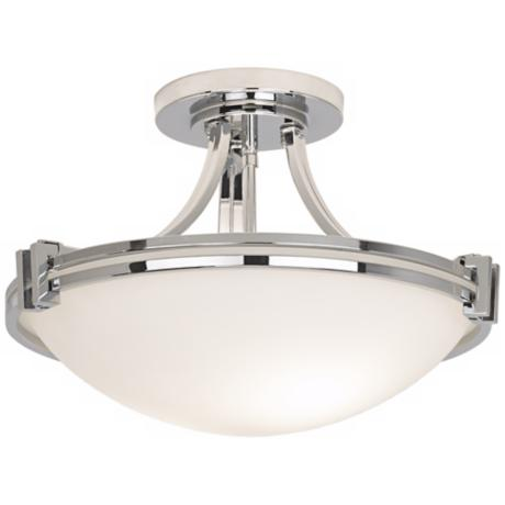 "Possini Euro Design Chrome 17"" Wide Ceiling Light Fixture"