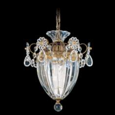 "Schonbek Bagatelle Collection 8"" Wide Crystal Pendant Light"