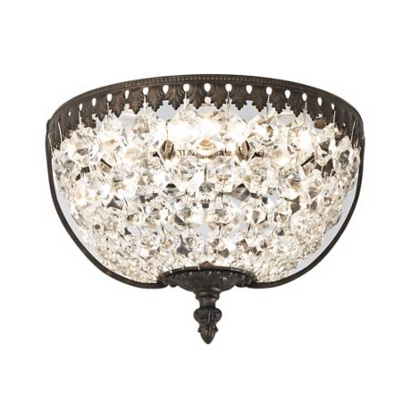 "Schonbek Rialto Collection 9"" Wide Crystal Wall Sconce"
