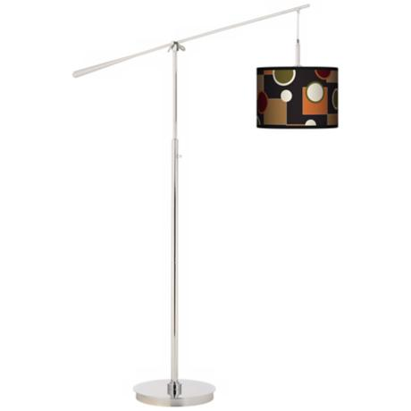 Retro Medley Giclee Boom Arm Floor Lamp