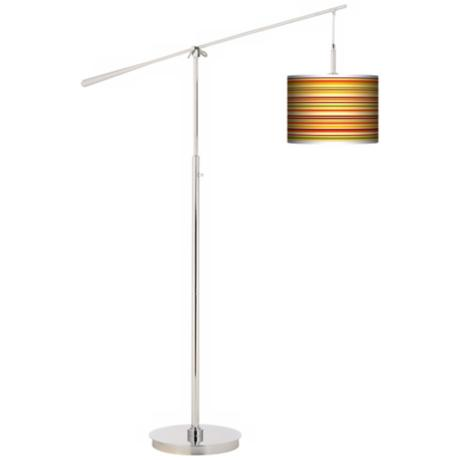 Stacy Garcia Harvest Stripe Giclee Boom Arm Floor Lamp