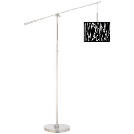 Stacy Garcia Twiggy Black Giclee Boom Arm Floor Lamp