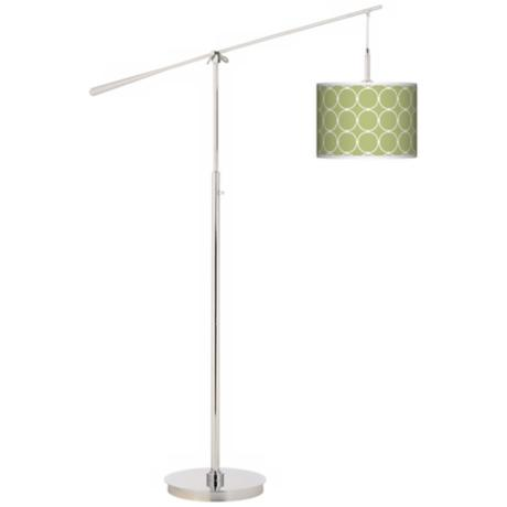 Spring Interlace Giclee Boom Arm Floor Lamp