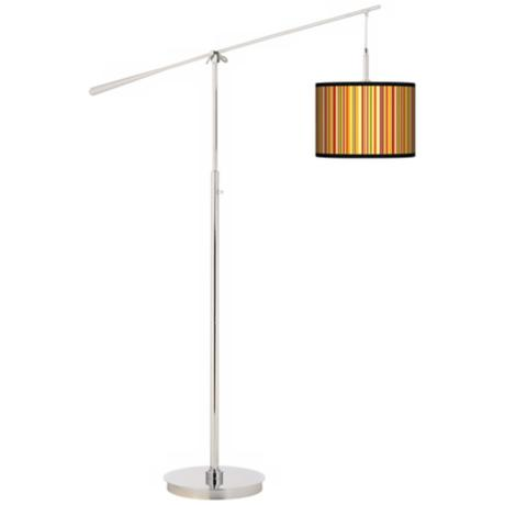 Stacy Garcia Vertical Harvest Stripe Giclee Boom Arm Floor Lamp