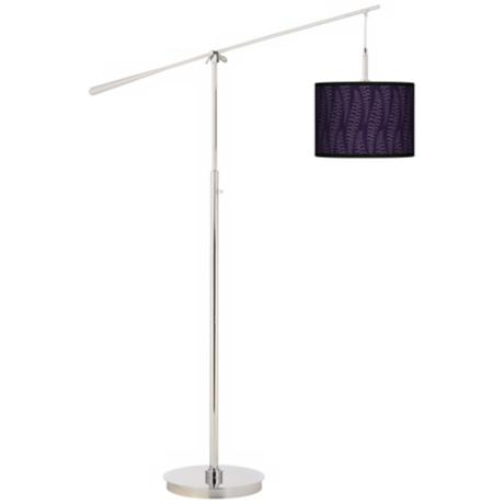 Stacy Garcia Fancy Fern Rich Plum Giclee Boom Arm Floor Lamp