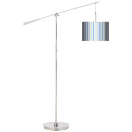 Stacy Garcia Cabana Stripe Giclee Boom Arm Floor Lamp