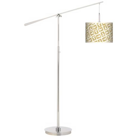 Tee Tumble Giclee Boom Arm Floor Lamp