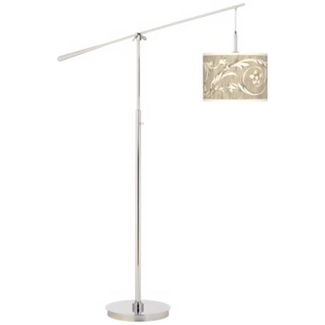 Laurel Court Giclee Boom Arm Floor Lamp