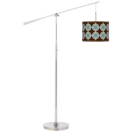 Stacy Garcia Porthole Giclee Boom Arm Floor Lamp