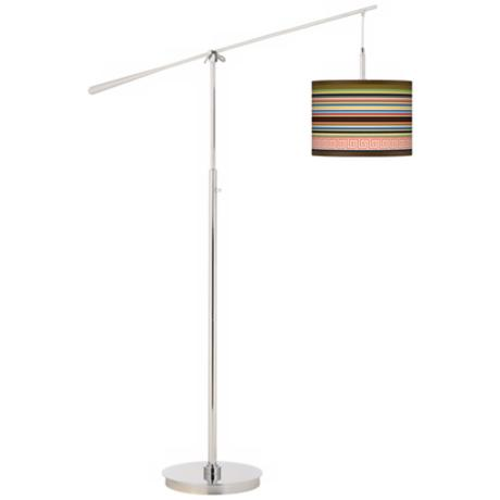 Island Party Time Giclee Boom Arm Floor Lamp
