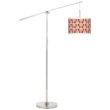 Hinder Giclee Boom Arm Floor Lamp