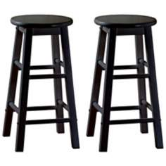 "American Heritage Classic Set of Two 24"" High Counter Stools"
