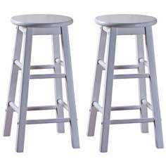 American Heritage Classic White Set of Two Counter Stools