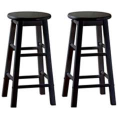 "American Heritage Classic Set of Two 30"" High Bar Stools"