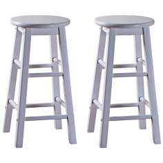"American Heritage Classic White 30"" High Bar Stools"