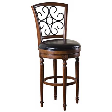 American Heritage Fosteria Hazelnut Finish Counter Stool