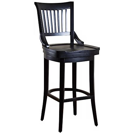 "American Heritage Liberty Black 30"" High Bar Stool"