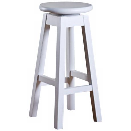 "American Heritage Taylor White 24"" High Counter Stool"