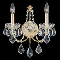 "Schonbek Century Collection 14"" High Crystal Wall Sconce"