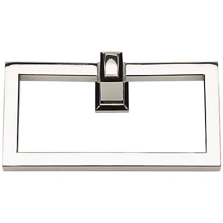 "Sutton Place 6 3/4""W Polished Nickel Towel Ring"