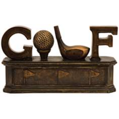 Golf Bronze Tone Box
