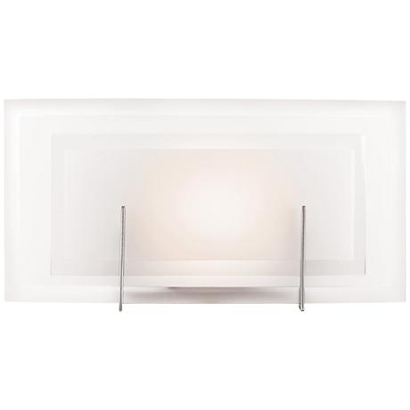 "Nitrous 6 1/2"" High Brushed Steel Wall Sconce"