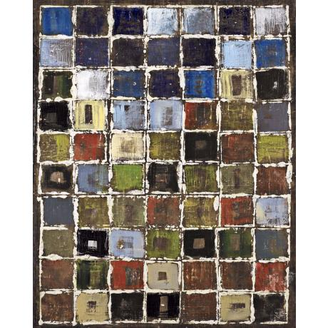 "Square Study Giclee 40"" High Canvas Wall Art"