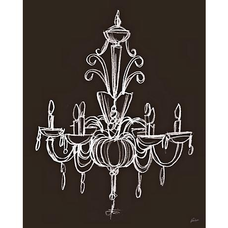 "Elegant Chandelier I Giclee 24"" High Wall Art"
