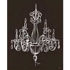 "Elegant Chandelier II Giclee 24"" High Wall Art"