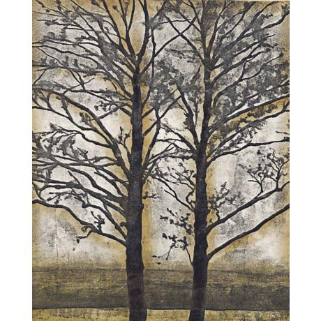 "Tandem Trees II Giclee 40"" High Canvas Wall Art"